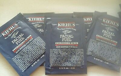 KIEHL'S - FACIAL FUEL ENERGIZING SCRUB FOR MEN - 6 x 3ml Samples - Authentic