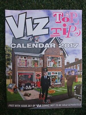 New Unused Collectable Viz Comic Magazine 2017 Top Tips Calendar From Issue 261