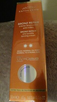 Institut esthederm bronz repair anti wrinkle tanning cream normal to strong sun