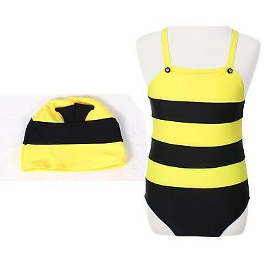 Baby Swimsuit Children's Cute Bees Spa Vacation Siamese Swimwear For Girls Boys