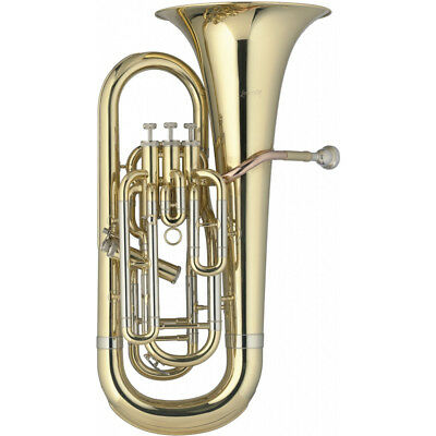 Levante LV-EP5415 Professional Bb Euphonium 3+1 Pistons Clear Lacquer with Case