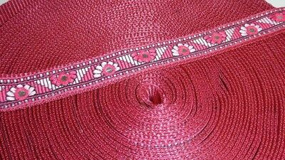 25mm Wide Polypropylene Braided Ribbon Trim Webbing BURGUNDY, per metre