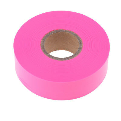 Outdoor Garden Tool Flagging Tape Trail Marking Safety Ribbon Camp Pink