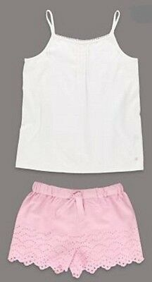 Ex Marks & Spencer 1-2 years 100% cotton girls short pyjama set Brand New