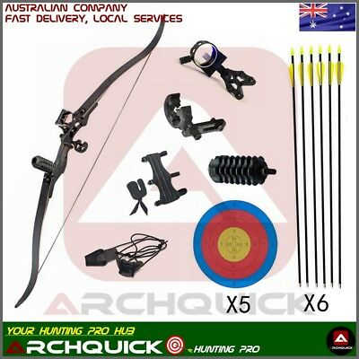 New Archery Recurve Bow Set Takedown Hunting Target shooting Practice Kit 54""