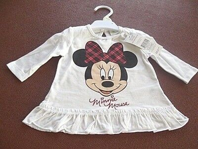 Disney baby Minnie Mouse size 0-3 months long sleeved cotton top Brand New