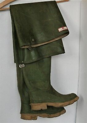 Vintage- Streamfisher Uniroyal (Hunter) Gummistiefel Waders Watstiefel Grün Rar