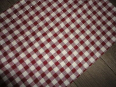Waverly Red Green White Buffalo Check Gingham Valance Blouson Tailored 15 X 78