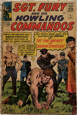 Sgt. Fury And His Howling Commandos #5 -- 1St Baron Von Strucker - Marvel
