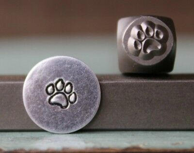 SUPPLY GUY 5mm Dog Paw Metal Punch Design Stamp SGCH-125