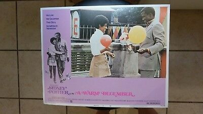 A Warm December 1973 #8 11X14 Lobby Card Sidney Poitier Esther Anderson Vintage