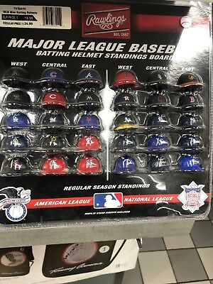 Mlb Major League Baseball Deluxe Helmet Standings Board Mini Red