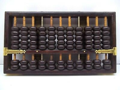 Vintage Abacus 11 Rods 9 Wood 2 Metal 77 Wood Beads Brand Unknown
