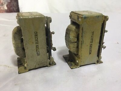 2 Vintage Western Electric Audio Transformers RET D 166141 Army JAN