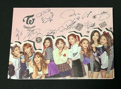 "TWICE autographed ""TWICEcoaster: Lane 2"" B ver. Special Album signed PROMO CD"