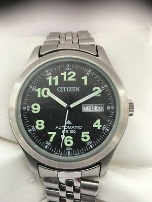Citizen Automatic Promaster  Day & Date  Arabic Dial Steel   Strap Men's Watch