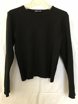 Vintage Agnes B jumper black merino wool, UK size S, used but in great condition