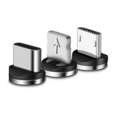 360° Micro USB Port Magnetic Adapter Charger For iPhone IOS Android Type C Cable