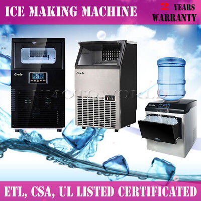 Stainless Steel Commercial Ice Maker Ice Making Machine - 40lb/ 83lb/ 100lb 38kg