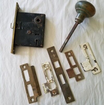 Antique Sargent Mortise Easy Spring, Door Knob and Parts