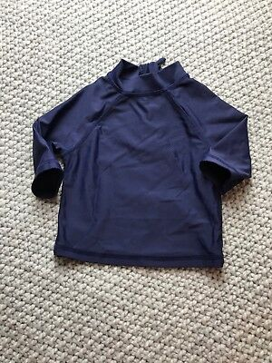 Boys Mothercare Navy Swim Top Age 6-9 Months