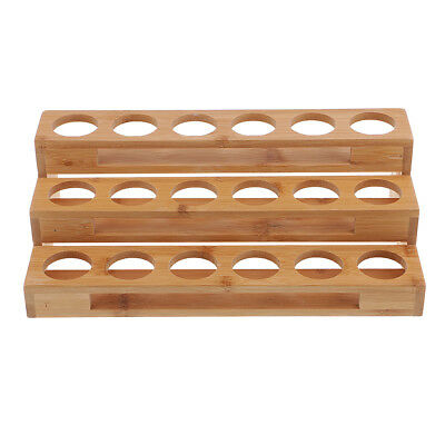 18 Slot Öl Aroma Storage Holz Rack Essential Container Tidy Organizer Fall