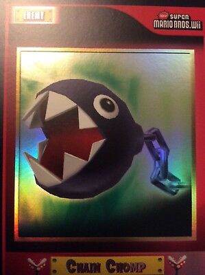 2010 Super Mario Brothers Chain Chomp Trading Card F-22 Puzzle 2