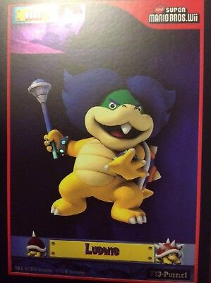 2010 Super Mario Brothers Ludwig Trading Card F-13 Puzzle 1