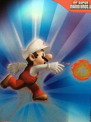 2010 Super Mario Brothers Fire Mario Trading Card F29 Puzzle 2
