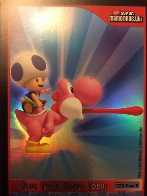 2010 Super Mario Brothers Blue Toad Riding Yoshi Trading Card F-28 Puzzle 2