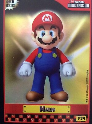 2010 Super Mario Brothers Gold Foil Mario Trading Card F34