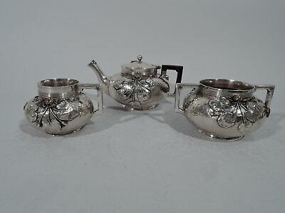 Gorham Tea Set - 2105 - Antique Service - American Sterling Silver & Mixed Metal