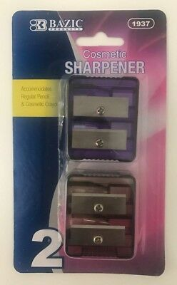 Eye & Lip Pencil Sharpener-Think & Thin Jumbo Pencil Cosmetic Sharpener