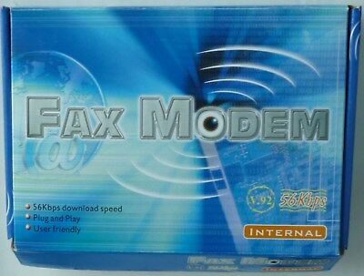 Fax Modem V92 56Kbps Internal With Drivers For Windows 98SE To XP