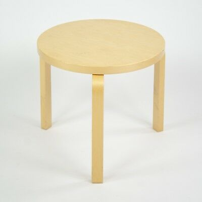 Alvar Aalto Round Side Table 60 by Artek Birch Knoll Herman Miller Finland 2002