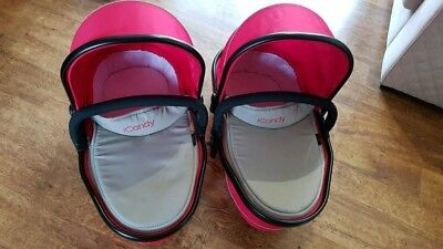 1 x iCandy lower carrycot, tomato red, fantastic condition, used 10 times.