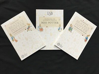 Various (Uncirculated) 2016 2017 2018 Beatrix Potter 50p Coins - From £1.00