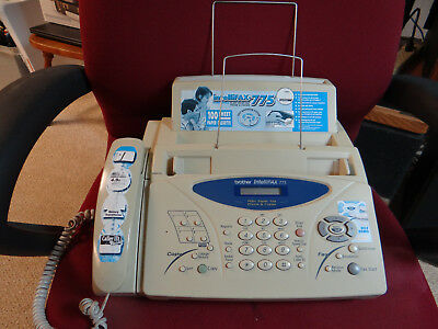 Brother Intellifax 775 Plain Paper Fax with Phone & Copier - Manual and NEW Roll