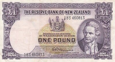 The Reserve Bank Of New Zealand 1 Pound Banknote 1940-55