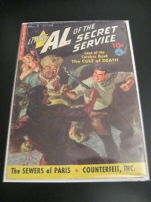 Little Al of the Secret Service #2 1951, Saunders Painted Cover Comic Book (VG)