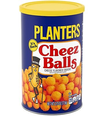 2018 PLANTERS CHEEZ BALLS Full In Can 2.75 OZ IN HAND READY TO SHIP