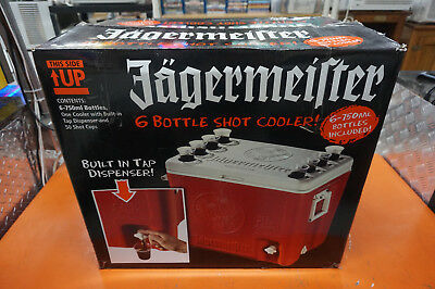 Jagermeister 6 Bottle Shot Cooler NEW IN THE BOX