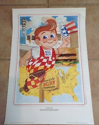 1992 Bob's Big Boy Lithograph Poster, suitable for framing, by Hansen