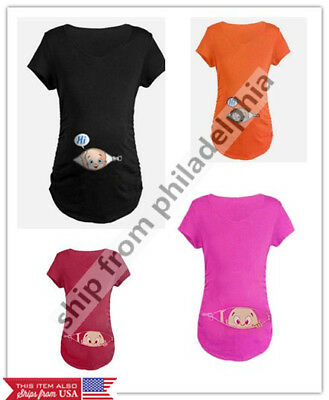 christmas maternity baby peeking t shirt funny gift pregnant women top pregnancy - Christmas Maternity