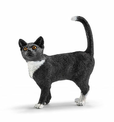 Schleich 13770 - Cat Standing - Standing Toy Figure -  New in package