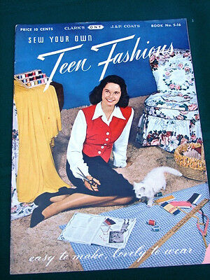 Sew Your Own Teen Fashions - orig 1945 Young Women's Clothing Book