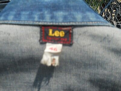 Vintage 40s 50s Lee Riders Denim jacket Sanforized Union made 46 red/gold tag