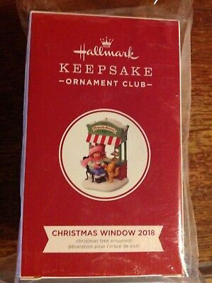 2018 HALLMARK Christmas Window #16 KEEPSAKE KORNERS CAFE KOC Club