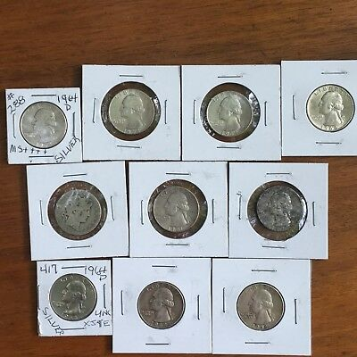 Quarter Lot of 10 90% Silver US Coin