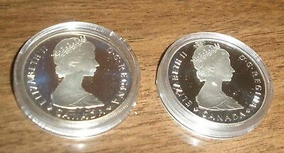 You Get 2 1985 Canada .500 Silver Proofs In Original Plastic Capsules Never Open